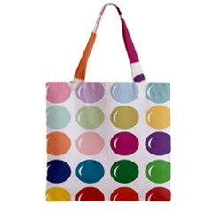 Brights Pastels Bubble Balloon Color Rainbow Grocery Tote Bag by Mariart