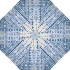 Indigo Grey Tie Dye Kaleidoscope Opaque Color Folding Umbrellas by Mariart