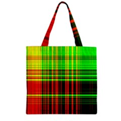 Line Light Neon Red Green Zipper Grocery Tote Bag by Mariart