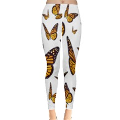 Butterfly Spoonflower Leggings  by Mariart