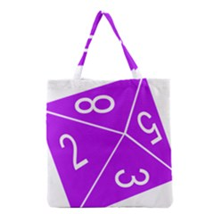 Number Purple Grocery Tote Bag by Mariart