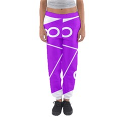 Number Purple Women s Jogger Sweatpants by Mariart