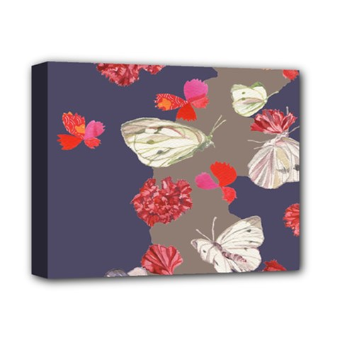 Original Butterfly Carnation Deluxe Canvas 14  X 11  by Mariart