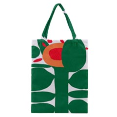 Portraits Plants Sunflower Green Orange Flower Classic Tote Bag by Mariart
