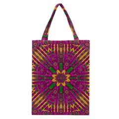 Feather Stars Mandala Pop Art Classic Tote Bag by pepitasart
