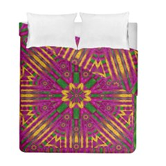 Feather Stars Mandala Pop Art Duvet Cover Double Side (full/ Double Size) by pepitasart