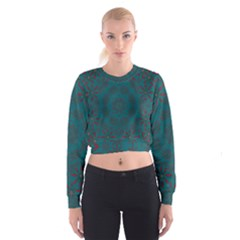 Stars Of Golden Metal Cropped Sweatshirt by pepitasart