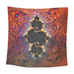 The Eye Of Julia, A Rainbow Fractal Paint Swirl Square Tapestry (large) by beautifulfractals