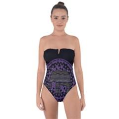 Ornate Mandala Elephant  Tie Back One Piece Swimsuit