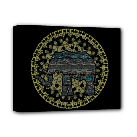 Ornate Mandala Elephant  Deluxe Canvas 14  X 11  by Valentinaart