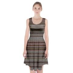 Stripy Knitted Wool Fabric Texture Racerback Midi Dress by BangZart