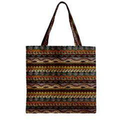 Aztec Pattern Zipper Grocery Tote Bag by BangZart