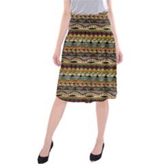 Aztec Pattern Midi Beach Skirt by BangZart