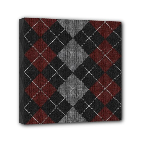 Wool Texture With Great Pattern Mini Canvas 6  X 6  by BangZart