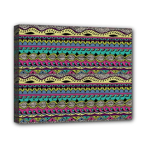 Aztec Pattern Cool Colors Canvas 10  X 8  by BangZart