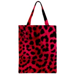 Leopard Skin Zipper Classic Tote Bag by BangZart