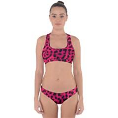 Leopard Skin Cross Back Hipster Bikini Set by BangZart