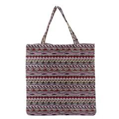 Aztec Pattern Patterns Grocery Tote Bag by BangZart