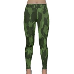 Camouflage Green Army Texture Classic Yoga Leggings