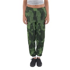 Camouflage Green Army Texture Women s Jogger Sweatpants by BangZart