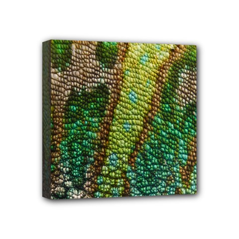 Chameleon Skin Texture Mini Canvas 4  X 4  by BangZart