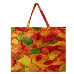 Leaves Texture Zipper Large Tote Bag by BangZart