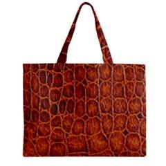 Crocodile Skin Texture Zipper Mini Tote Bag by BangZart