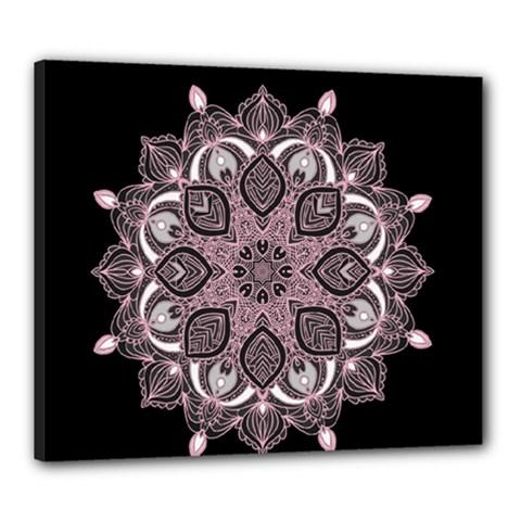 Ornate Mandala Canvas 24  X 20  by Valentinaart