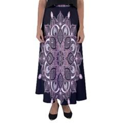 Ornate mandala Flared Maxi Skirt