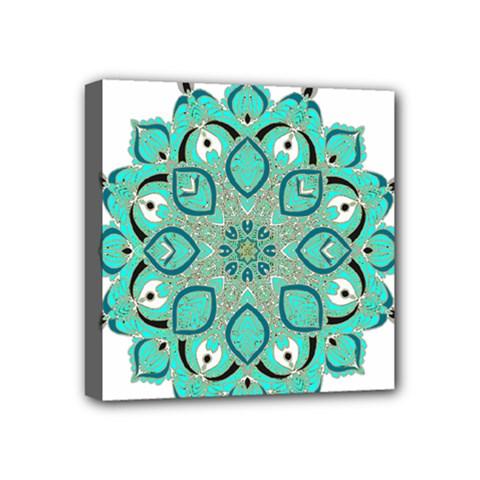 Ornate Mandala Mini Canvas 4  X 4  by Valentinaart