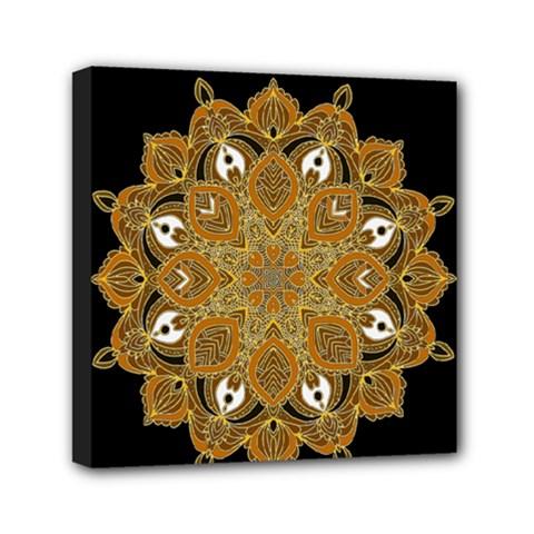 Ornate Mandala Mini Canvas 6  X 6  by Valentinaart