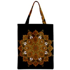 Ornate Mandala Zipper Classic Tote Bag by Valentinaart