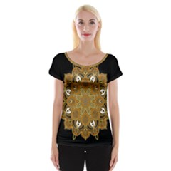 Ornate mandala Cap Sleeve Tops