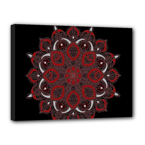 Ornate Mandala Canvas 16  X 12  by Valentinaart
