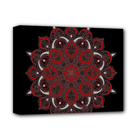 Ornate Mandala Deluxe Canvas 14  X 11  by Valentinaart