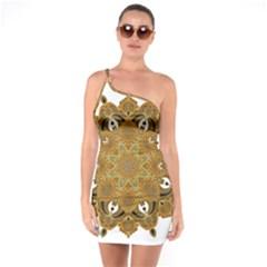 Ornate Mandala One Soulder Bodycon Dress by Valentinaart