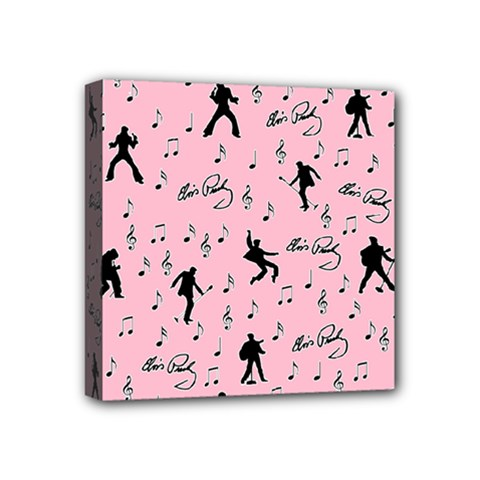 Elvis Presley  Pink Pattern Mini Canvas 4  X 4  by Valentinaart