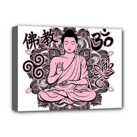 Ornate Buddha Deluxe Canvas 16  X 12   by Valentinaart