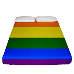 Pride Rainbow Flag Fitted Sheet (king Size) by Valentinaart