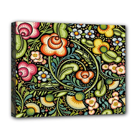 Bohemia Floral Pattern Deluxe Canvas 20  X 16   by BangZart