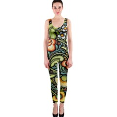 Bohemia Floral Pattern Onepiece Catsuit by BangZart