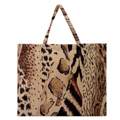 Animal Fabric Patterns Zipper Large Tote Bag by BangZart