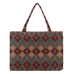 Knitted Pattern Medium Tote Bag by BangZart