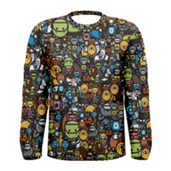 Many Funny Animals Men s Long Sleeve Tee