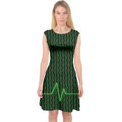 01 Numbers Capsleeve Midi Dress