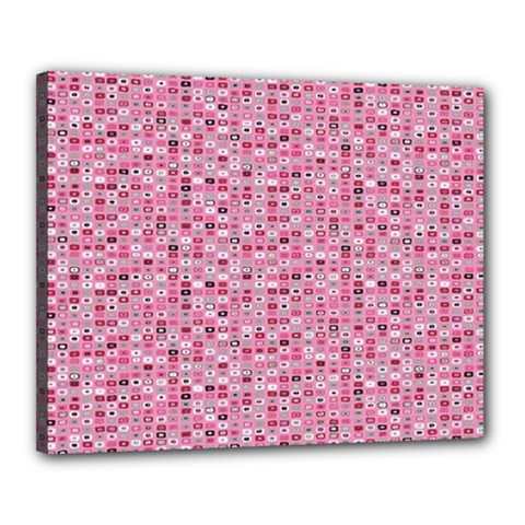 Abstract Pink Squares Canvas 20  X 16  by BangZart