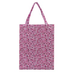 Abstract Pink Squares Classic Tote Bag by BangZart
