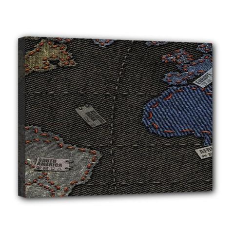 World Map Canvas 14  X 11  by BangZart