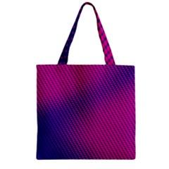 Purple Pink Dots Zipper Grocery Tote Bag by BangZart