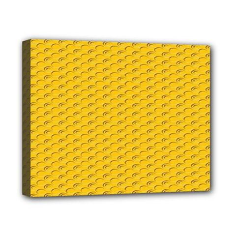 Yellow Dots Pattern Canvas 10  X 8  by BangZart